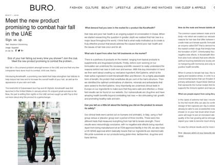 In the press - Meet the new product promising to combat hair fall in the UAE
