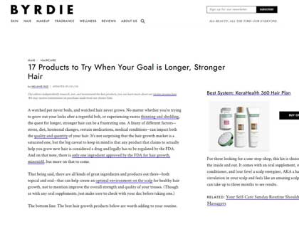 In the press - 17 Products to Try When Your Goal is Longer, Stronger Hair