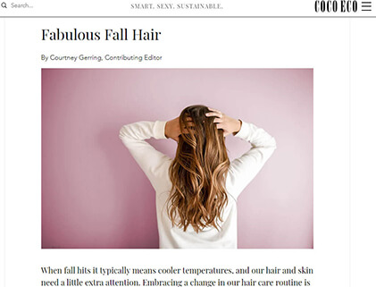 In the press - Fabulous Fall Hair