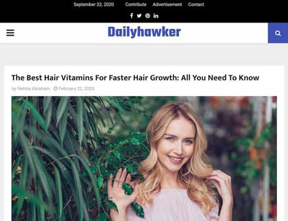 In the press - The Best Hair Vitamins For Faster Hair Growth: All You Need To Know