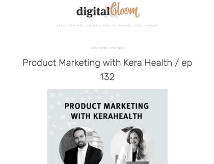 In the press - Product Marketing with KeraHealth