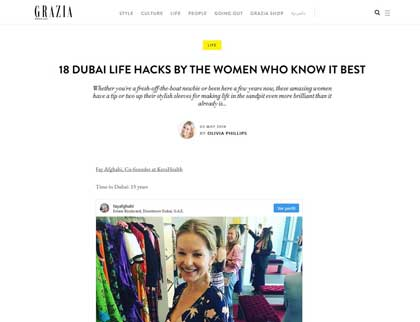 In the press - 18 Dubai life hacks by the women who know it best