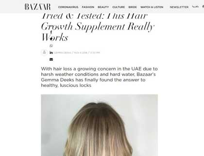 In the press - Tried & Tested: This Hair Growth Supplement Really Works