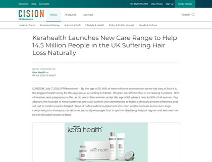 In the press - Kerahealth Launches New Care Range