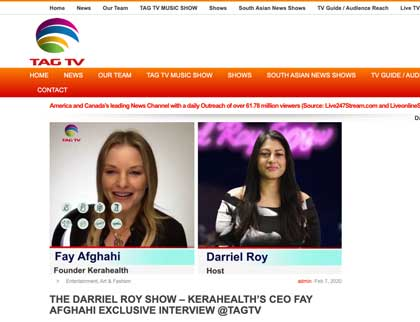 In the press - The Darriel Roy Show - Kerahealth's CEO Fay Afghahi Exclusive Interview