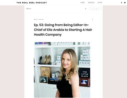 In the press - Going from Being Editor-In-Chief of Elle Arabia to Starting A Hair Health Company